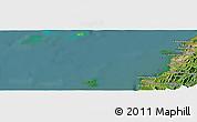 Satellite Panoramic Map of Kota Kinabalu