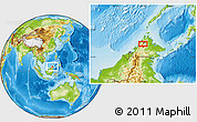 Physical Location Map of Kampong Kationg