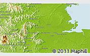 Physical 3D Map of Samawang