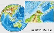 Physical Location Map of Samawang