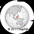 Outline Map of Samawang, rectangular outline