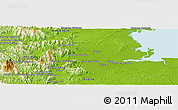 Physical Panoramic Map of Samawang