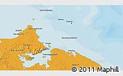 Political 3D Map of Kampong Baharu