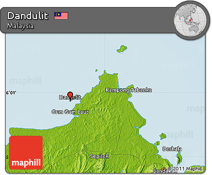 Physical Map of Dandulit