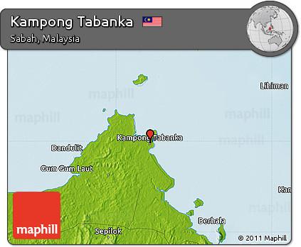 Physical Map of Kampong Tabanka