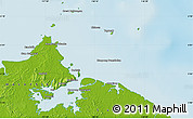 Physical Map of Sandakan