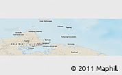 Shaded Relief Panoramic Map of Kampung Gelam