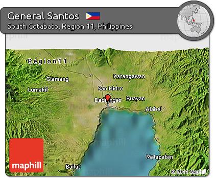 Free Satellite 3D Map of General Santos