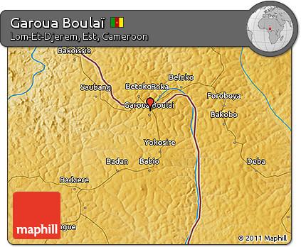 Free Physical 3D Map of Garoua Boula