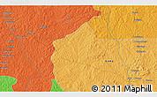Political 3D Map of Bayala