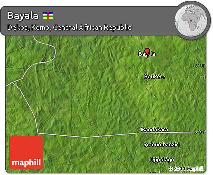 Satellite Map of Bayala