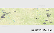 """Physical Panoramic Map of the area around 5°56'49""""N,18°46'29""""E"""