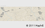 Shaded Relief Panoramic Map of Bayala