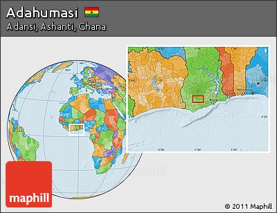 Political Location Map of Adahumasi