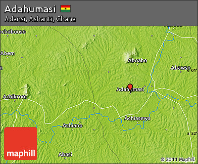 Physical Map of Adahumasi