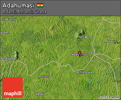 Satellite Map of Adahumasi