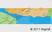 Political Panoramic Map of Adahumasi