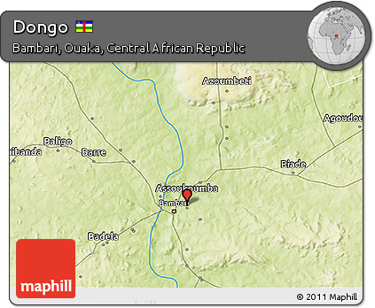 Physical 3D Map of Dongo