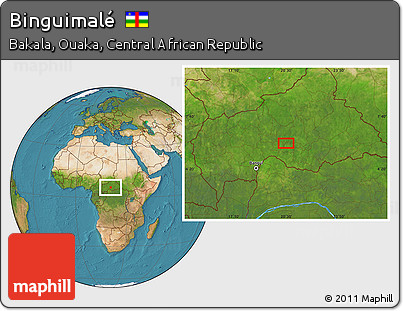 Satellite Location Map of Binguimalé