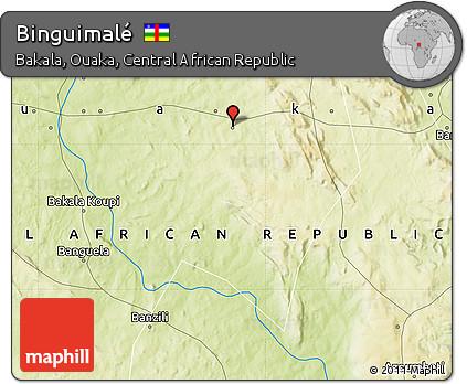 Physical Map of Binguimalé