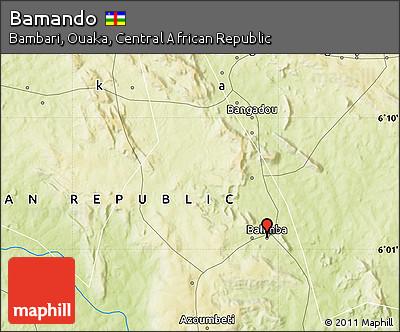 Physical Map of Bamando