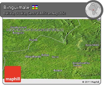 Satellite Panoramic Map of Binguimalé