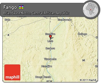 Physical Map of Fango