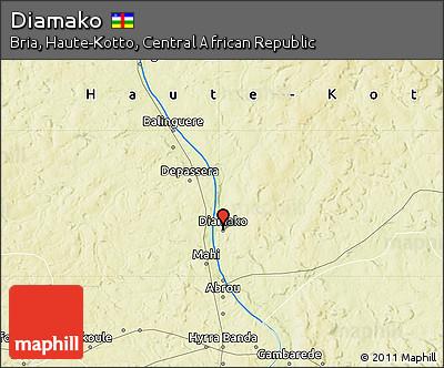 Physical Map of Diamako