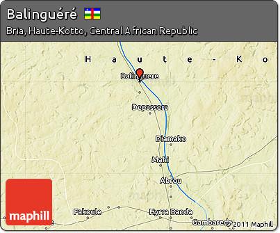 Physical Map of Balinguéré