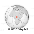Outline Map of Mahi, rectangular outline