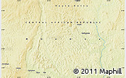 """Physical Map of the area around 5°56'49""""N,23°1'29""""E"""