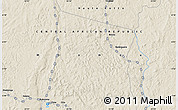 """Shaded Relief Map of the area around 5°56'49""""N,23°1'29""""E"""