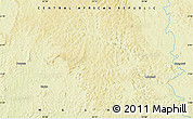 """Physical Map of the area around 5°56'49""""N,23°52'30""""E"""