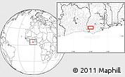 Blank Location Map of Anwiem