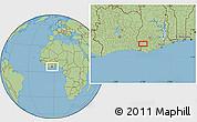 Savanna Style Location Map of Anwiem