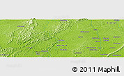 "Physical Panoramic Map of the area around 5° 56' 49"" N, 2° 28' 30"" W"