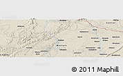 Shaded Relief Panoramic Map of Anwiem