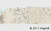 Shaded Relief Panoramic Map of Dibandibe