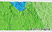 Political 3D Map of Kontema