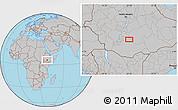 Gray Location Map of Contoma