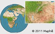 Satellite Location Map of Contoma