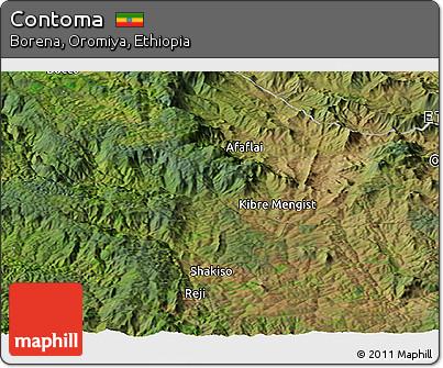 Satellite Panoramic Map of Contoma