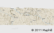 Shaded Relief Panoramic Map of Sanlura