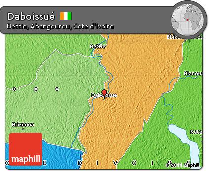 Political Map of Daboissué