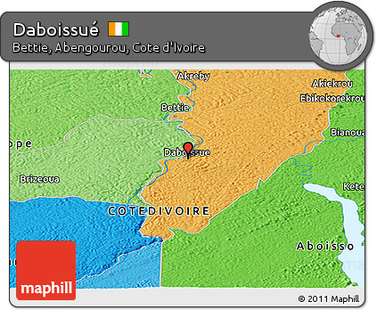 Political Panoramic Map of Daboissué