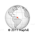 Outline Map of Clevia, rectangular outline