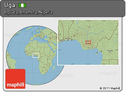 Free Savanna Style Location Map of Uga