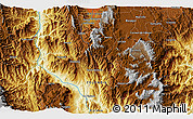 """Physical 3D Map of the area around 5°56'49""""N,75°34'29""""W"""