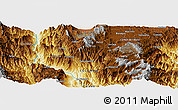 """Physical Panoramic Map of the area around 5°56'49""""N,75°34'29""""W"""