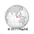 Outline Map of West Pesisir Regency, rectangular outline